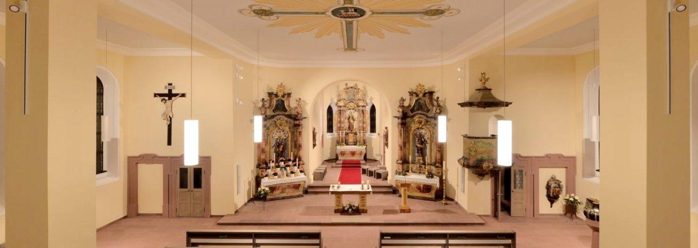 Kirche Nordweil, innen